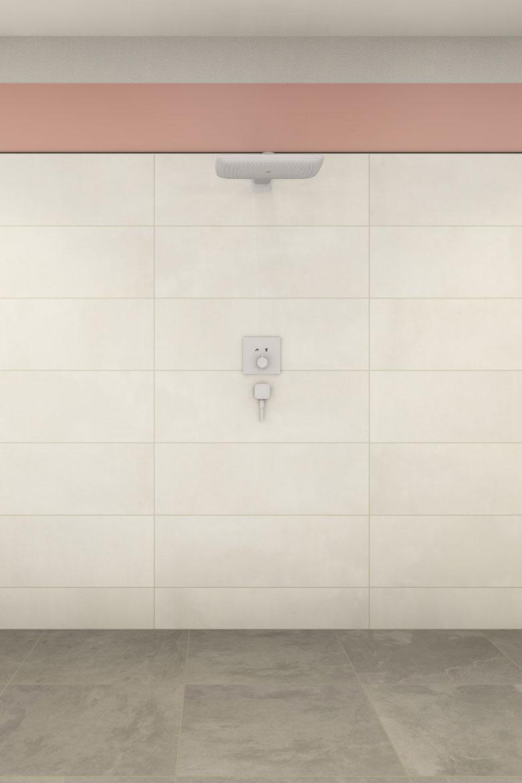 30 cm über dem Wasseranschluss muss laut Norm abgedichtet werden.